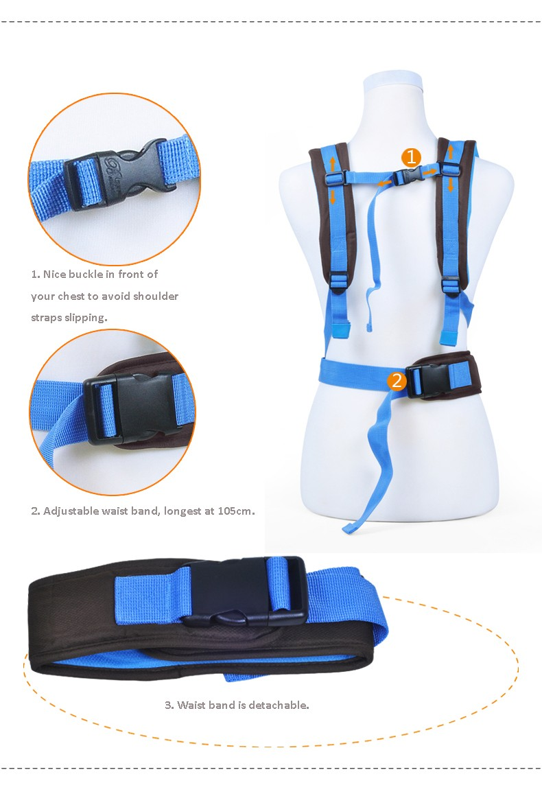 2-30 Months Breathable Multifunctional Front Facing Baby Carrier Infant Sling Backpack Pouch Wrap Baby Kangaroo_999