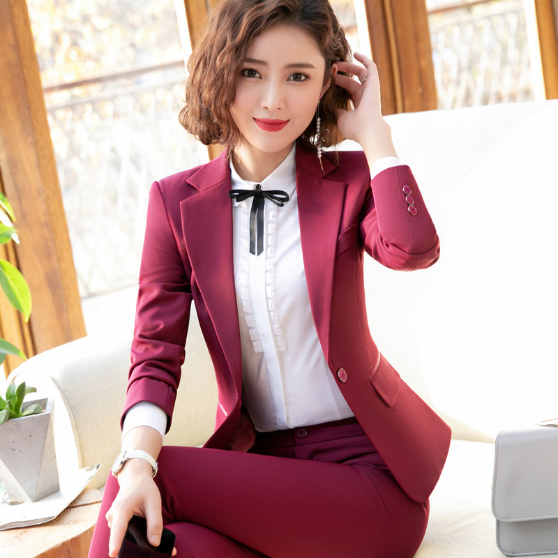 Back To Search Resultswomen's Clothing Pant Suits Rational Formal Ladies Navy Blue Blazer Women Business Suits With Pant And Jacket Set Work Wear Office Uniform Styles Elegant Buy Now