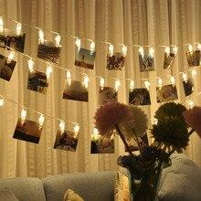 1Set/Bag Decoration Photo Holder String Lights