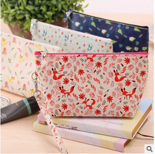 2017 New Arrival Fashion Design Fabric Material School Students Stationery Holder Nice Quality Brand Pen Bag CL01