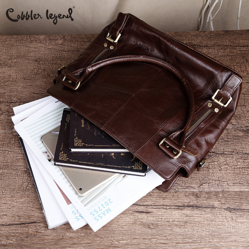 Cobbler Legend Women Handbags Hobo Shoulder Bags Tote Designer Genuine Leather Handbags Female Fashion Large Capacity Bags