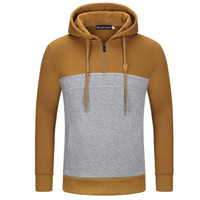 Free Delivery 2017 spring men's new trade men's fashion stitching color hooded hoodies