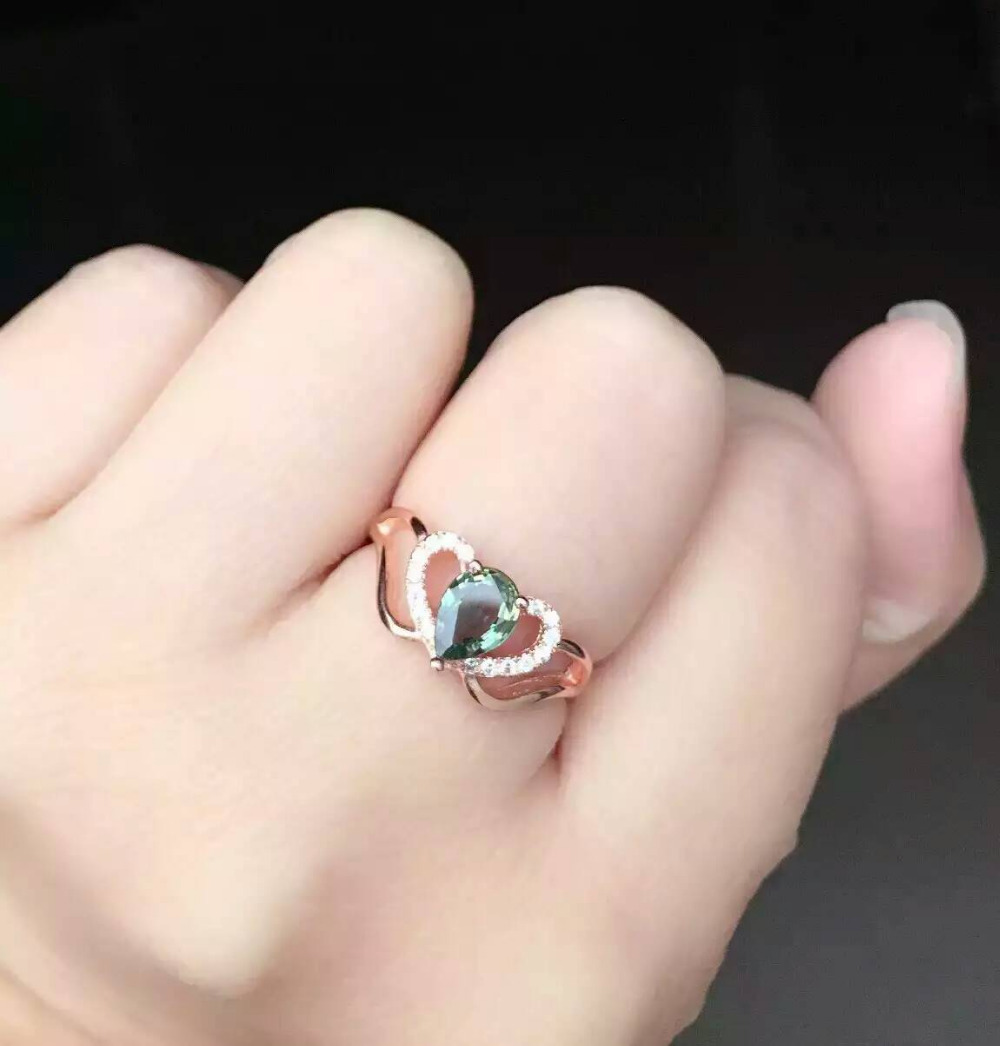 Natural blue sapphire stone Ring Natural gemstone Ring S925 Sterling Silver trendy Romantic elegant heart women's Party Jewelry us plug hdmi video game player 16 bit md nostalgia gaming console with double 2 4g wireless controllers retro style design