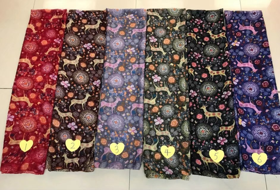 2017 Newest Women Giraffee Deer Printed Animal Printed Cotton Voile Scarf 6Colors 10PCS/LOT