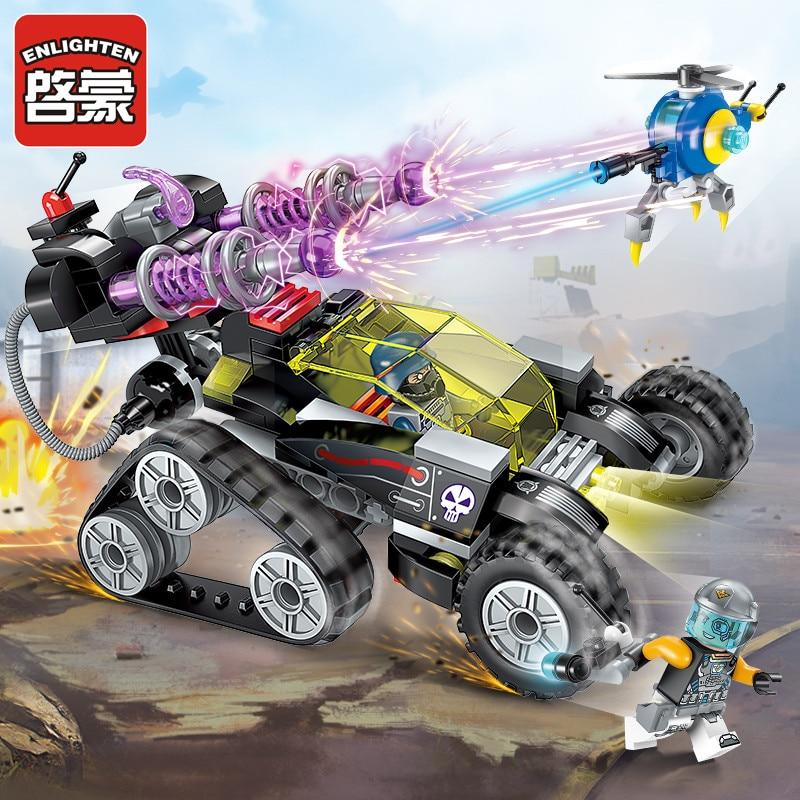 Enlighten Building Block High-Tech Era Magnetic Storm Snipergun 2 Figures 203pcs Educational Technic Bricks Toy For Boy G-No Box