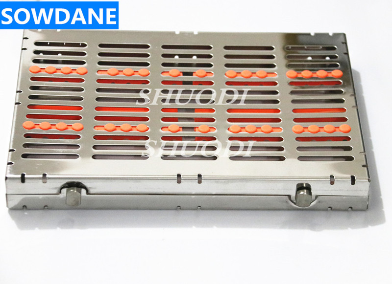 High quality Dental stainless steel disinfection placing box tray for 20 pcs dental instrument for instrument disinfection plateHigh quality Dental stainless steel disinfection placing box tray for 20 pcs dental instrument for instrument disinfection plate