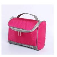 300D Oxford Cloth Cosmetic Bag Lady Spell Color Waterproof Travel Wash Bag Men Travel Bag 2018