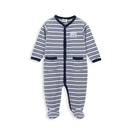 Kavkas/комплект одежды для малышей; зимние комбинезоны в полоску для мальчиков; брендовый комбинезон с длинными рукавами из хлопка; костюм для новорожденных; комбинезон для малышей - Цвет: PY1031