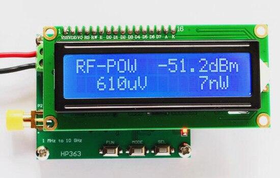 Frete Grátis!!! RF power meter/medidor de energia 1 mhz ~ 10 ghz-50 ~ 0dBm pode definir o poder RF valor de atenuação
