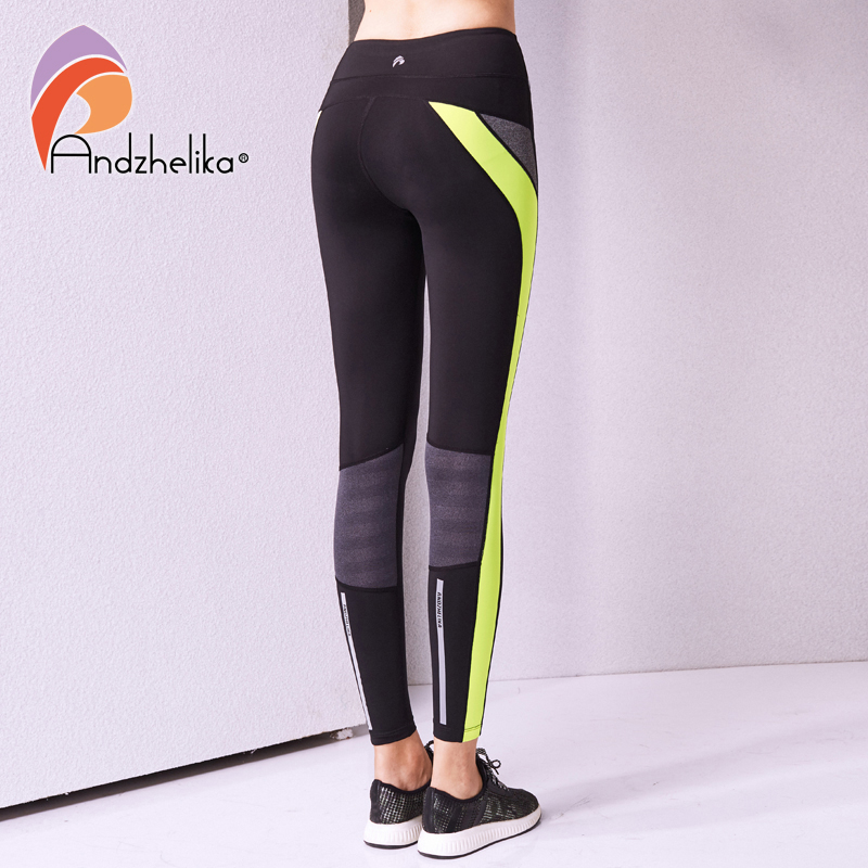 6aab49904 Andzhelika Women Yoga Pants High Quality Slim Running Fitness Leggings  Elastic Sexy Compression Tights Breathable Sports Pants-in Yoga Pants from  Sports ...