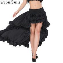 Женская винтажная юбка с оборками beonlema черная корсетом размера