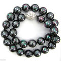 FREE SHIPPING HOT sell new Style >>>>18 AAA 12MM NATURAL GENUINE tahitian black pearl necklace