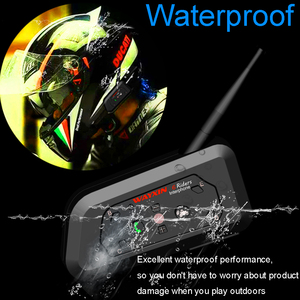 Image 4 - WAYXIN motosiklet Bluetooth interkom 2 adet kask interkom 6 Riders kadar 1200M kablosuz su geçirmez interkom kulaklık R6