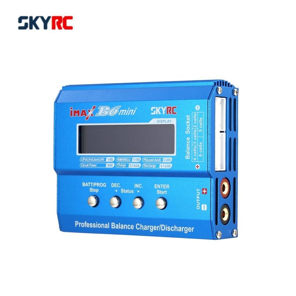 SKYRC iMAX B6 Mini RC Balance cargador descargador 60 W para LiPo Li-ion LiFe Nimh Nicd RC helicóptero Coche drone avión