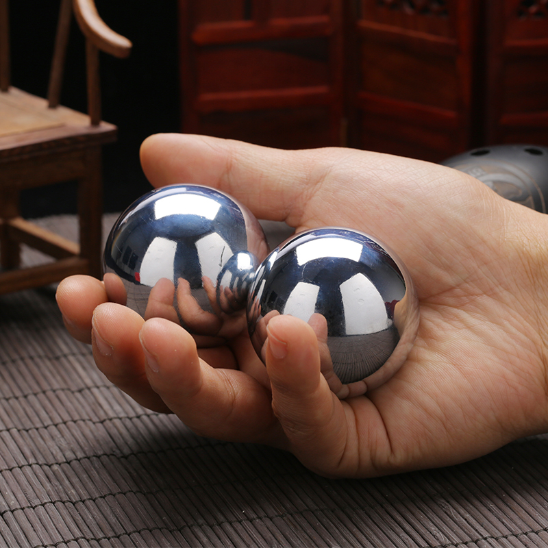 40mm/560g 45mm/720g Polished iron <font><b>fitness</b></font> ball hand pieces health-care handball health massage ball