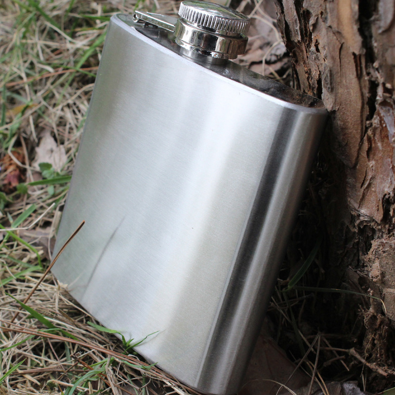 6oz Smooth Surface Stainless Steel Hip Flask Alcohol Whisky Flagon Outdoor Essential Portable Pocket Hip Flask Personalized
