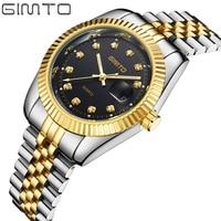 Male Quartz Luxury Wrist Watch Famous Brand Gold Stainless Steel Original Calendar Waterproof Clock Relogio Masculino