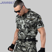 2019 New Listing Summer Cotton Embroidery Short sleeved Shirt Outdoor Casual Wear Wild Survival Military Shirt Men's Clothing