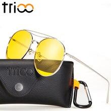 TRIOO Polaroid Yellow Sunglasses High Fashion Transparent Color Oculos Anti Glare Driving Sun Glasses For Women 2017 Trending