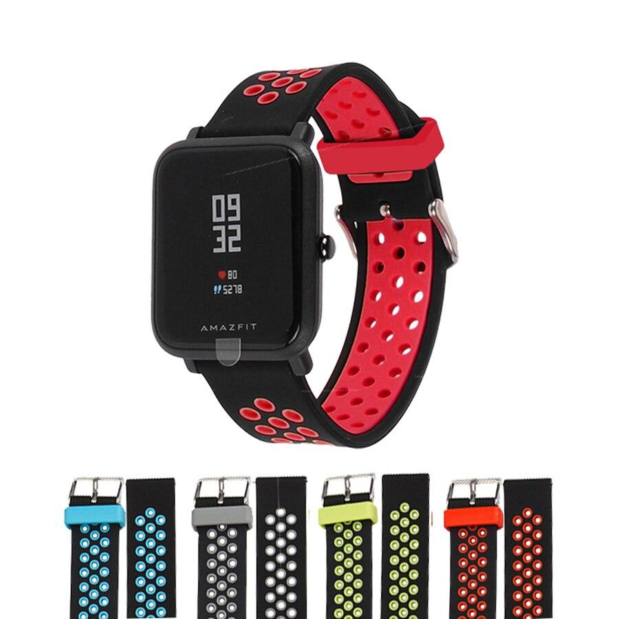 Sostituire Cinturini per Originale Xiaomi Huami Bip BIT RITMO Lite Gioventù Astuto Della Vigilanza Doppia Banda di Silicone di Colore per Amazfit gioventù
