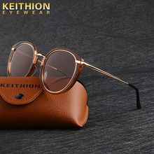 KEITHION Vintage Polarized Sunglasses for Women Round Sun Glasses Retro UV400 Eyewear oculos masculino