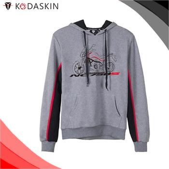 KODASKIN Men Cotton Round Neck Casual Printing Sweater Sweatershirt Hoodies for NC750S NC750s
