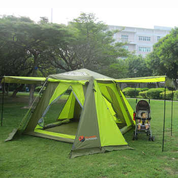 Automatic tents 3-4 people double deck tents outdoor camping trip speed tents opened camping tent - DISCOUNT ITEM  30% OFF Sports & Entertainment