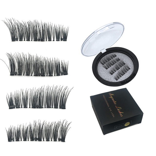 4pcspair 3 Magnet 3d Magnetic Eyelashes Magnet Lashes Thicker
