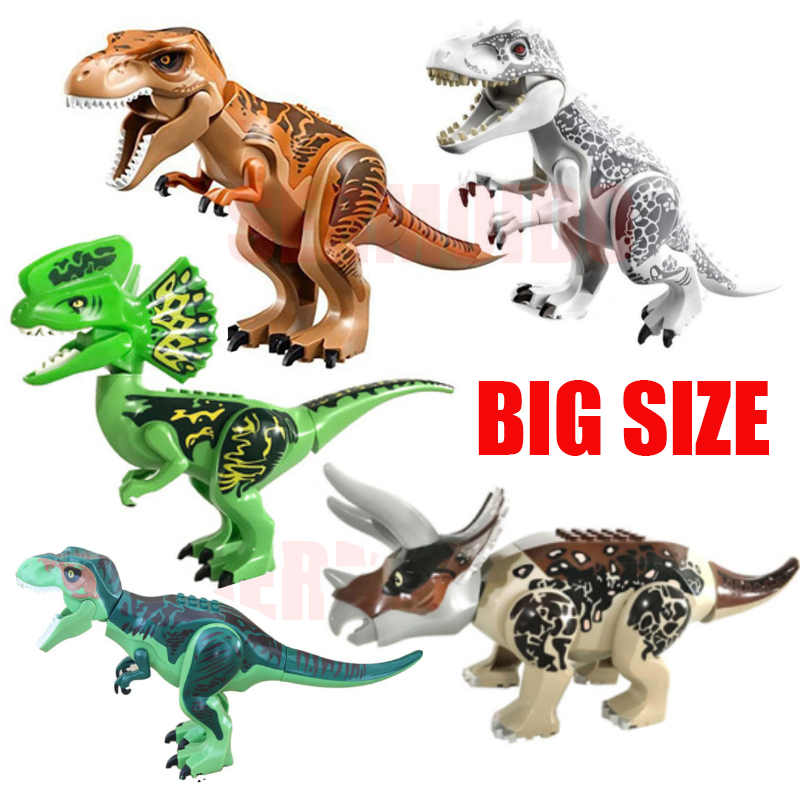 Legoings Jurassic World Park Tyrannosaurus Rex Building Blocks Jurassic Dinosaur Figures Bricks Toys Collection Toy BKX37 newborn baby girls boys baseball crochet knit costume photography prop 0 4m
