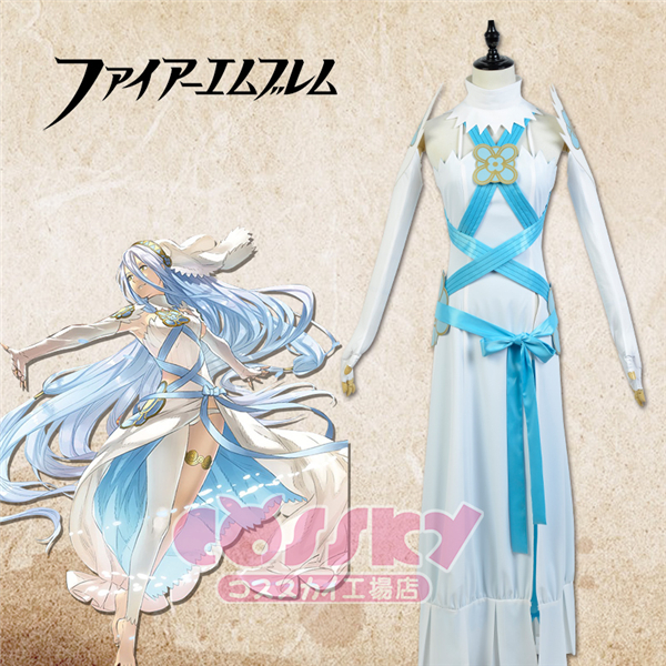 Fire Emblem Aqua White day Full Dress Cosplay Costume Full Set Free Shipping Any Size