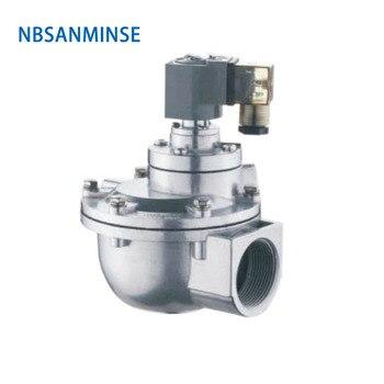 цена на NBSANMINSE QG - Z 1-1/2 2 2-1/2 3 Inch Replaced GOYEN Solenoid Pulse Valve Dust Collector Double Diaphragm Valve High Quality