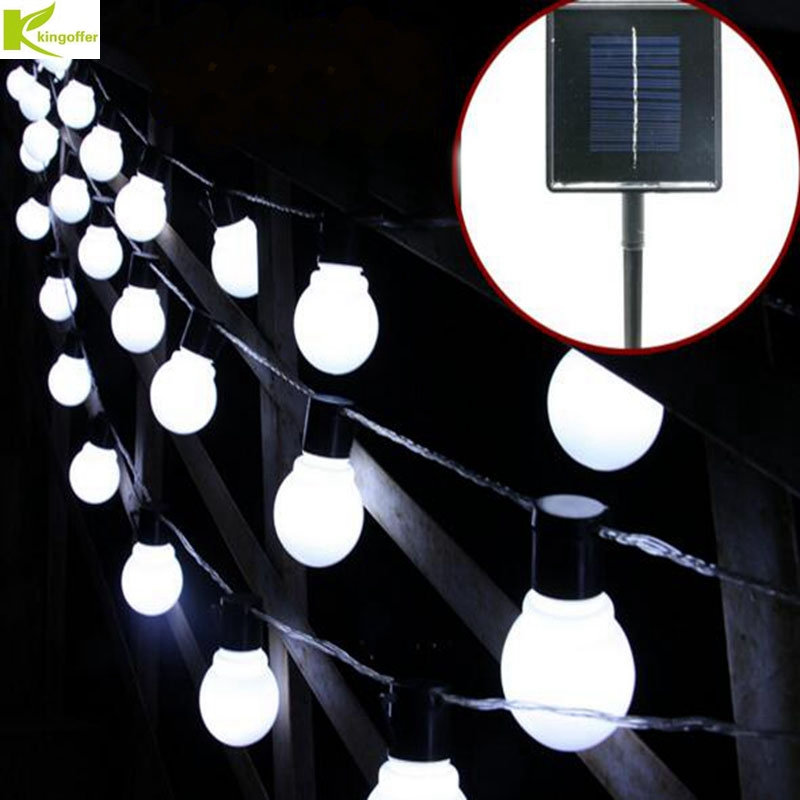 Kingoffer Solar Powered LED String Light 2M 10PCS Bulb Waterproof Fairy Globe Ball Lamp for Christmas Holiday New Year Garland ems dhl free shipping toddler little girl s 2017 princess ruffles layers sleeveless lace dress summer style suspender