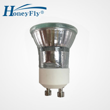 Honeyfly 5pcs Dimmable Gu10 Halogen Lamp 35W +C(35mm) 230V Mini Bulb 3000K Lamba Spot Light  GU10 35mm Halojen
