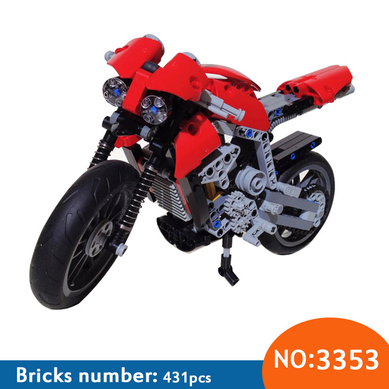 Նոր 3353 3354 մոտոցիկլետի շահագործում Շենքի բլոկներ Կոմպլեկտներ DIY DIY Խաղալիքներ Աղյուսների խաղալիքներ լավագույն նվերը համատեղելի 8051
