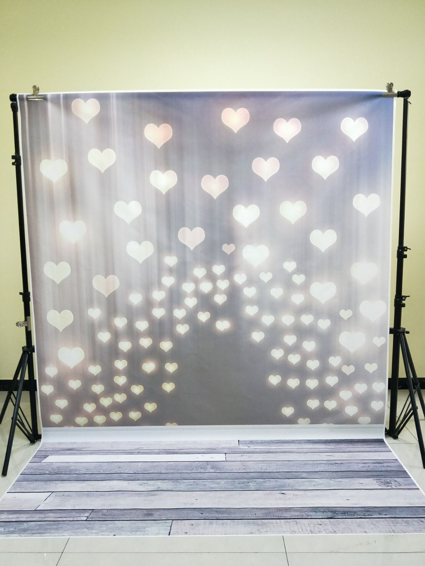 HUAYI 1.8x2.5m seamless Valentine backdrop for photography wood floor vinyl backdrops bokeh heart background paper XT-6074 huayi 4pc 2x2ft wood floor brick wall backdrop vinyl photography backdrops photo props background small object shooting gy 019