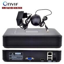 Мини видеорегистратор Full HD 4CH 8CH видеонаблюдения NVR 1080 P Onvif 2.0 для IP Камера Системы 1080 P с радиатор Системы скрытого видеонаблюдения