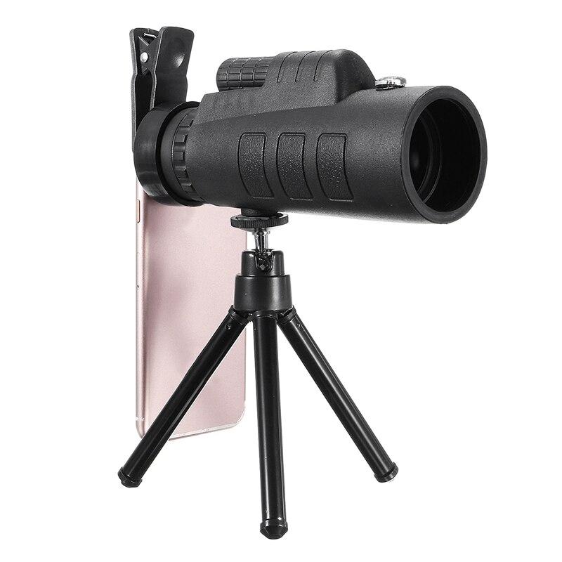 35x50 Monoculaire Téléobjectif Télescope Lentille + Universal Mobile Téléphone Clip + Trépied Universel pour Samsung pour iPhone Mobile téléphones