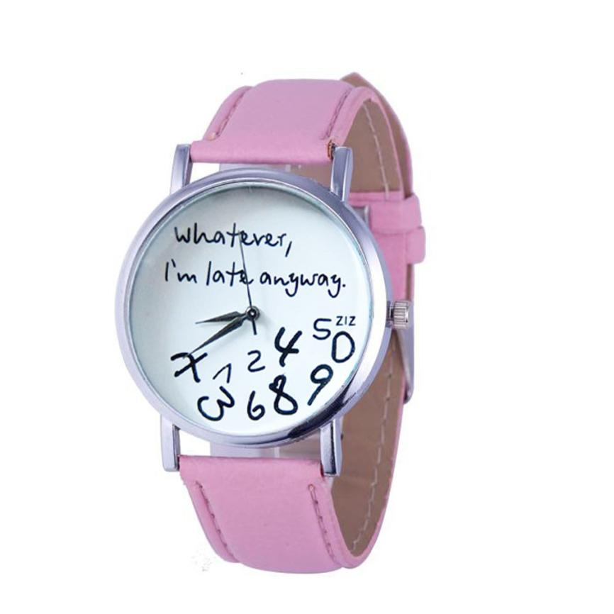Watch  2017 relogio masculi erkek kol saati  reloj mujer Watch Whatever I am Late Anyway Letter Watches Blackch Drop New Design lovesky 2016 new arrival women pu leather watch who cares i am late anyway letter watches wrist watch free shipping
