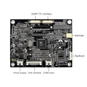 Image 3 - Dla 8 cal 800x480 ekran LCD KYV N2 V2 AT080TN03 V1 VGA + AV płyta kontrolera LCD