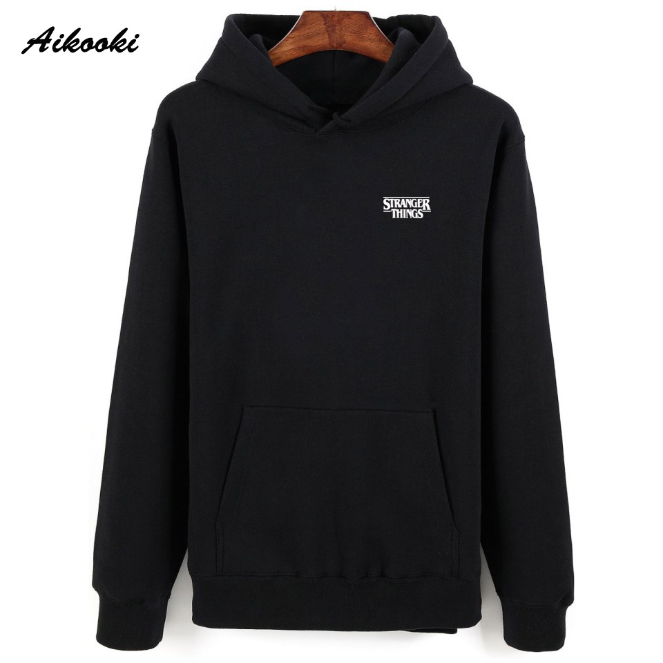 Aikooki Fashion Hoodies Stranger Things Sweatshirt Men/Women Hoody Cotton Warm Casual Clothes Stranger Things Design Hooded Coat