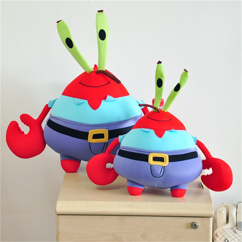 ФОТО Cartoon SpongeBob Characters Eugene H. Krabs Soft Stuffed Plush Toys Brinquedo Christmas Gift For Kids free shipping