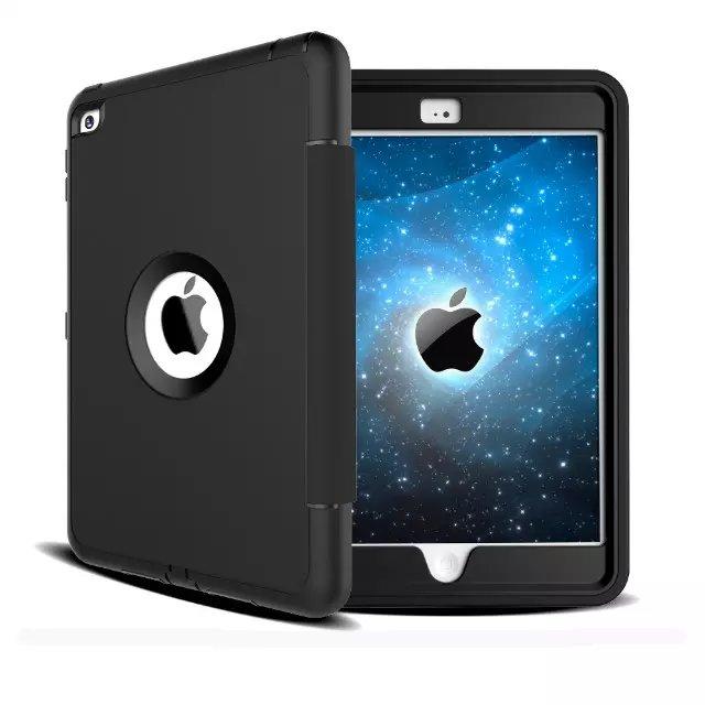 Тонкий Heavy Duty противоударный Прочный чехол три Слои Жесткий PC + Силиконовые гибридный ударопрочный Defender Case для iPad мини 1 2 3
