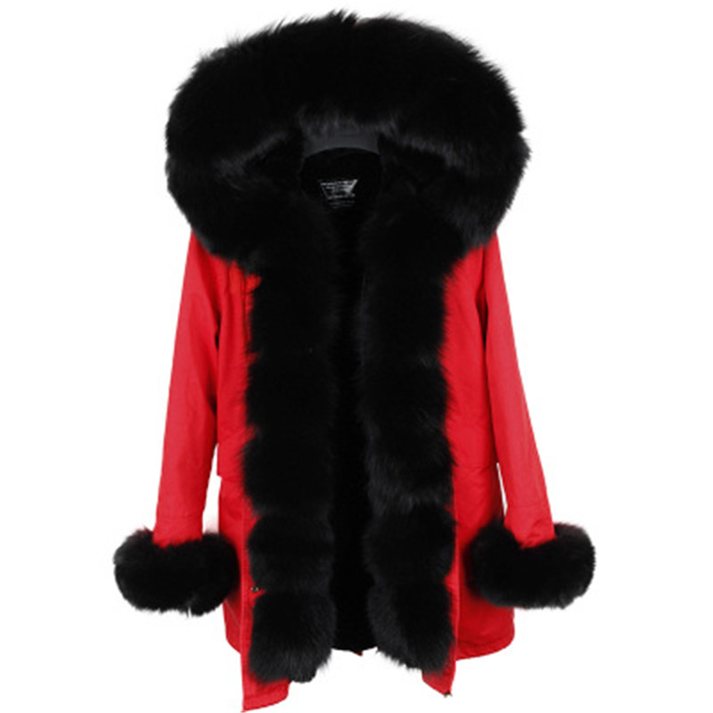 parka 2017 winter jacket women fur coat natural real fox fur collar thick warm long parkas big fur outerwear Detachable real fox fur liner winter jacket women new long parka real fur coat big raccoon fur collar hooded parkas thick outerwear