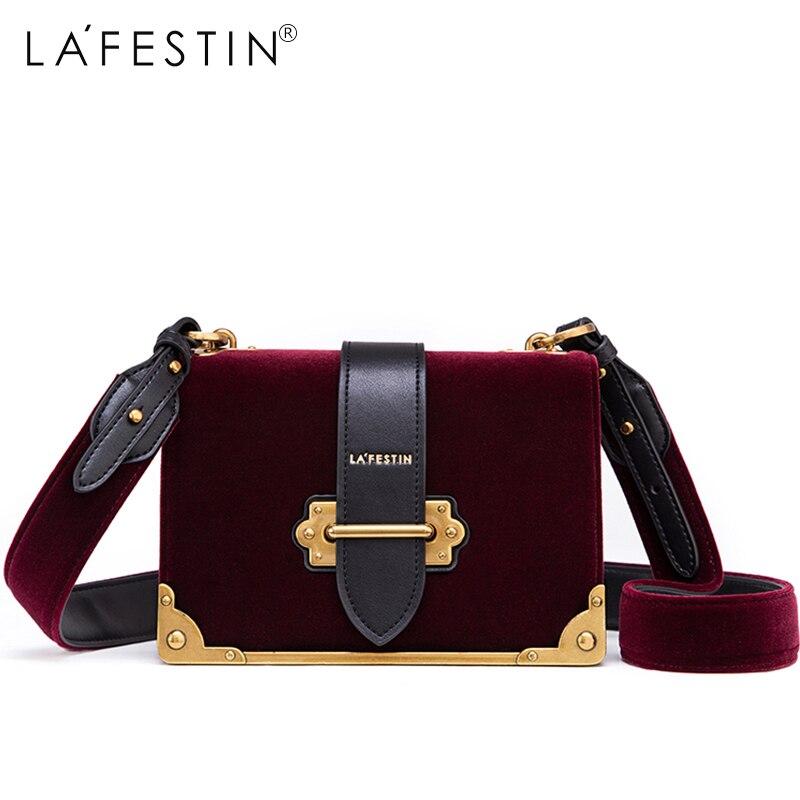 LAFESTIN женская сумка через плечо бархатная сумка бренды 2018 дизайн роскошный известный дизайнер сумка через плечо Bolsa Feminina высокое качество