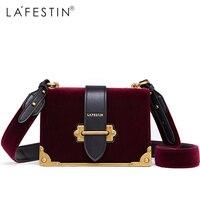 LAFESTIN Women Shoulder Bag Velvet Handbag Brands 2018 Design Luxury Famous Designer Crossbody Bag Bolsa Feminina High Quality