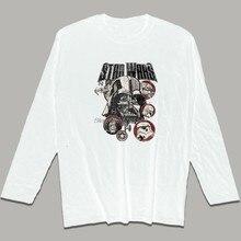 9e60147cf Star Wars T-shirt Men O-neck Cotton Plus Size Long Sleeve T Shirt Star Wars  Funny T Shirts Cool Tees Tops Harajuku Streetwear