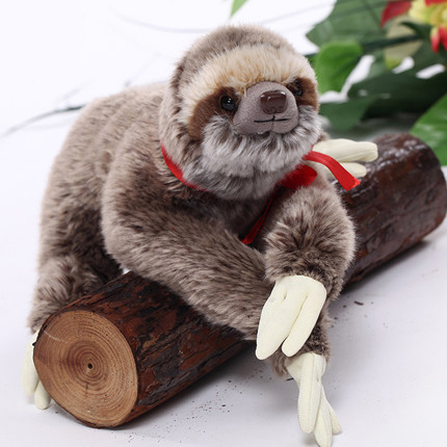 Animal Simulation Stuffed Toy Sloth Plush Doll Kids Toys Schattige Knuffel Graduation Gift Oyuncak Bebek Toys For Girls 50G0461 stuffed animal 110cm plush tiger toy about 43 inch simulation tiger doll great gift free shipping w018