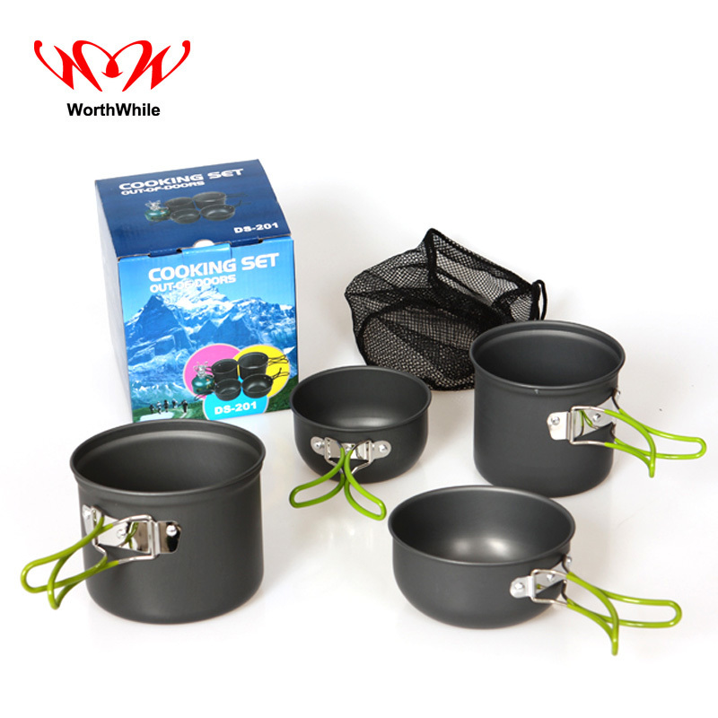 WorthWhile Portbale Aluminium Alloy Pot Set Cookware