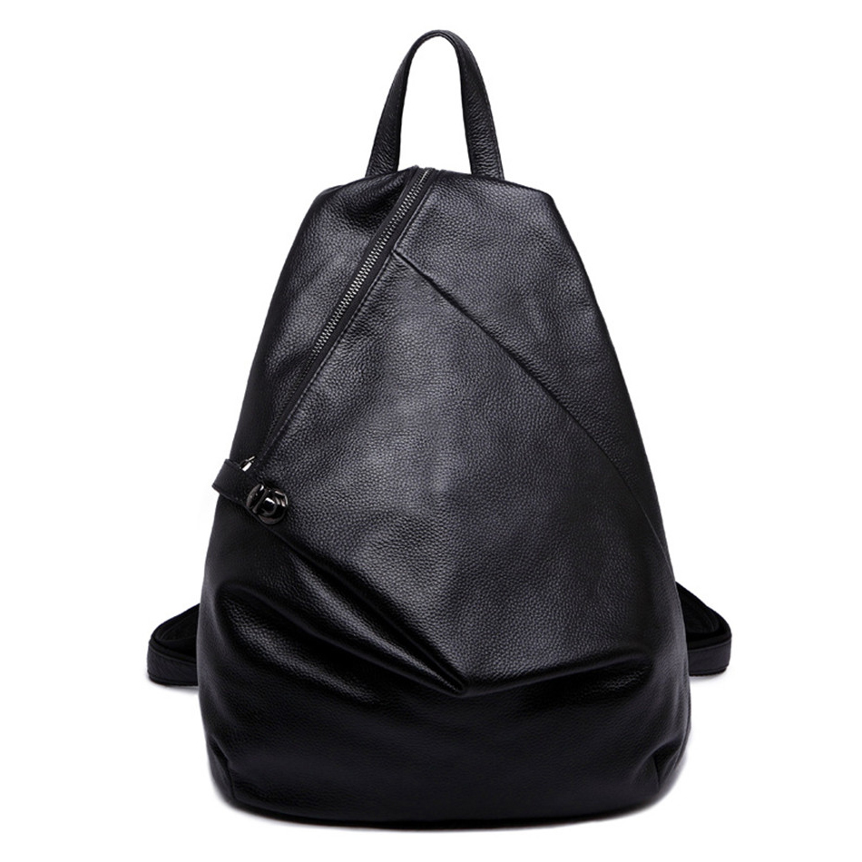 High Quality ladies leather backpacks Fashion soft Backpack For Teenage Girls School Bags Women Travel Back pack Black Mochila