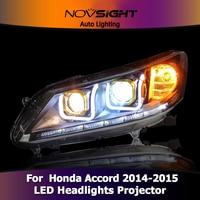 Автомобиль Стайлинг для Honda Accord 9 фары для Accord 13 16 Светодиодный Фонарь налобный Angel глаз светодиодный DRL Передняя света Биксеноновая объектив
